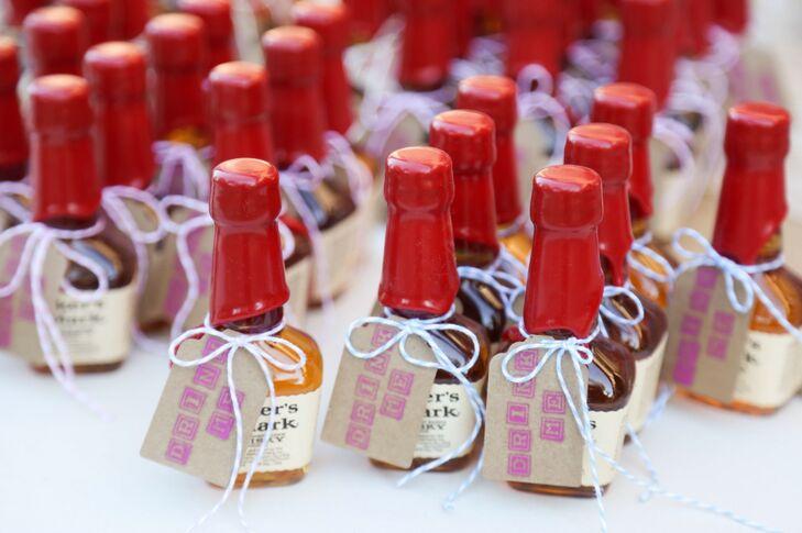Miniature Vodka And Bourbon Wedding Favors