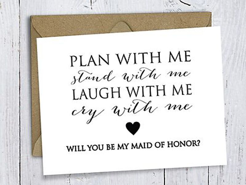 19 Creative Ways To Ask Will You Be My Maid Of Honor