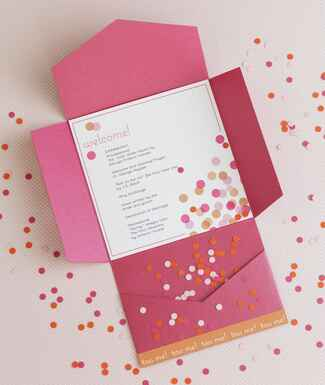 Confetti ceremony program