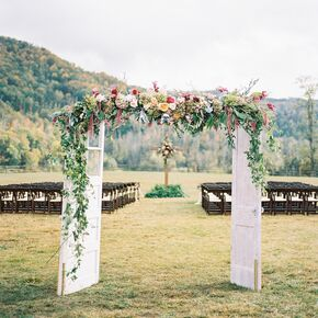 Vintage Door Archway With Lush Autumnal Florals