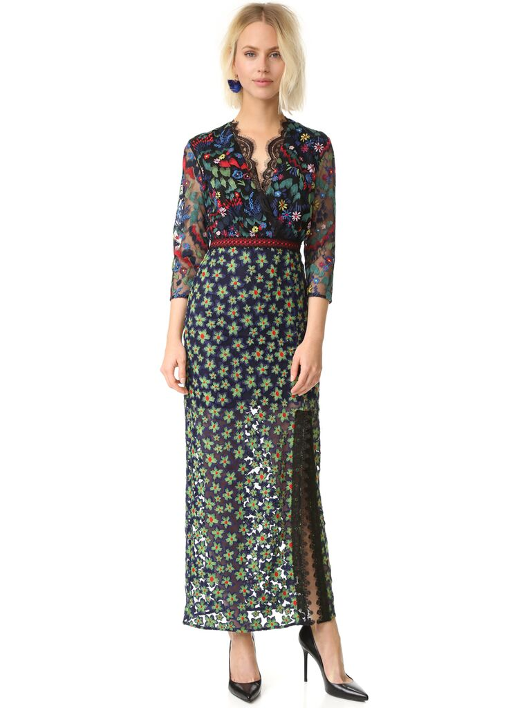 15 floral dresses perfect for summer wedding guests for Floral wedding guest dresses
