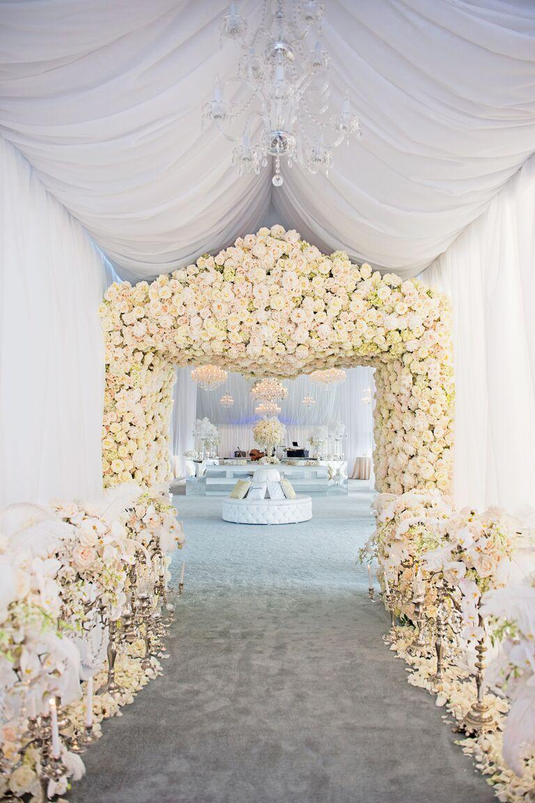 Karen Tran's flower-covered entryway