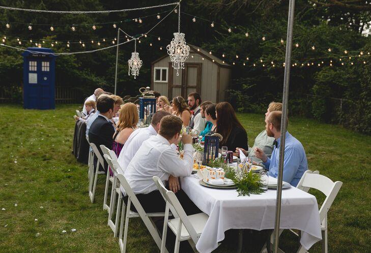 Backyard Wedding Reception Dining Table