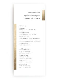 wedding programs from minted