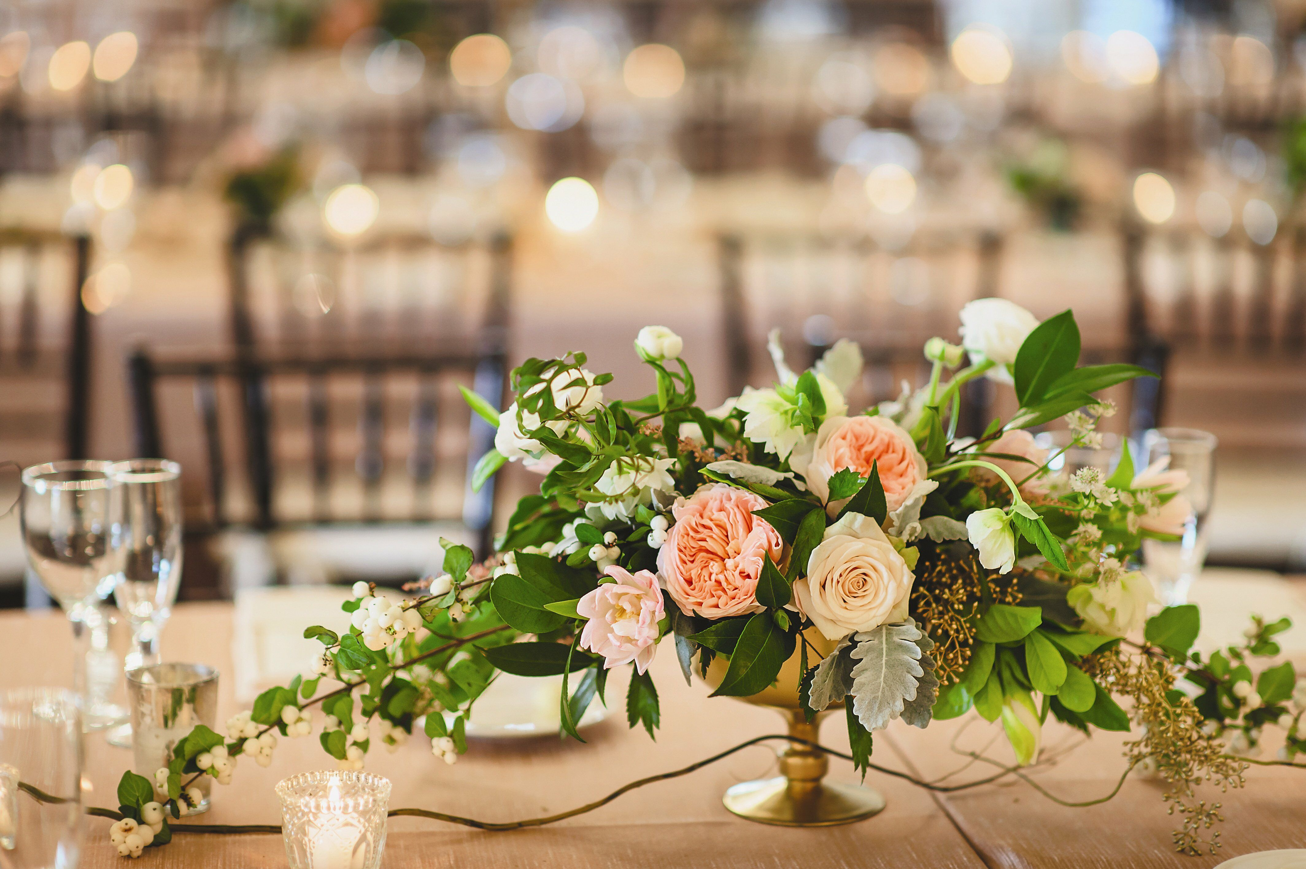 Low lush centerpieces