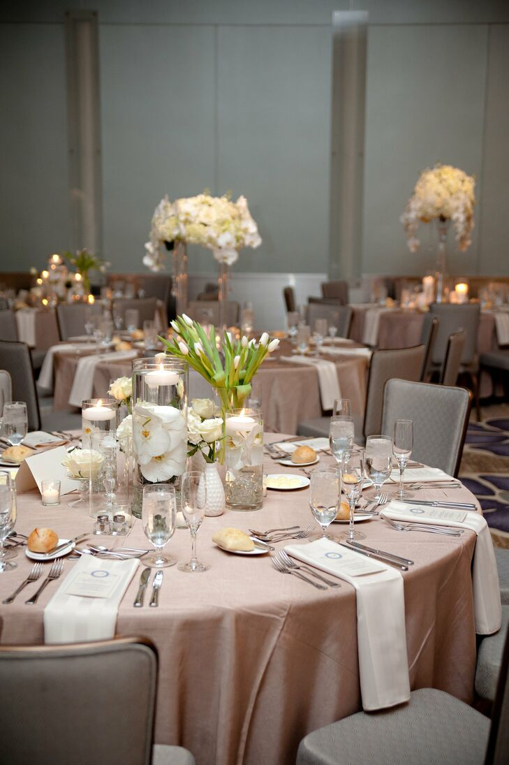 Neutral Wedding Reception Decor