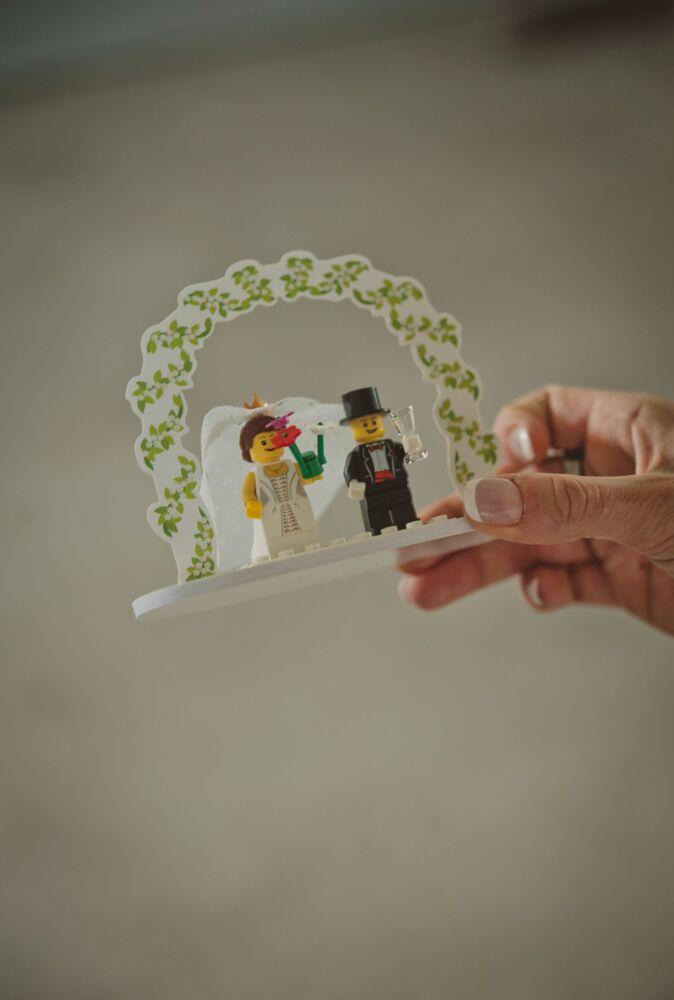 Whimsical LEGO Cake Topper