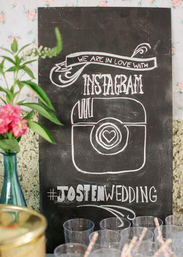 Chalkboard Hashtag Social Sharing Sign