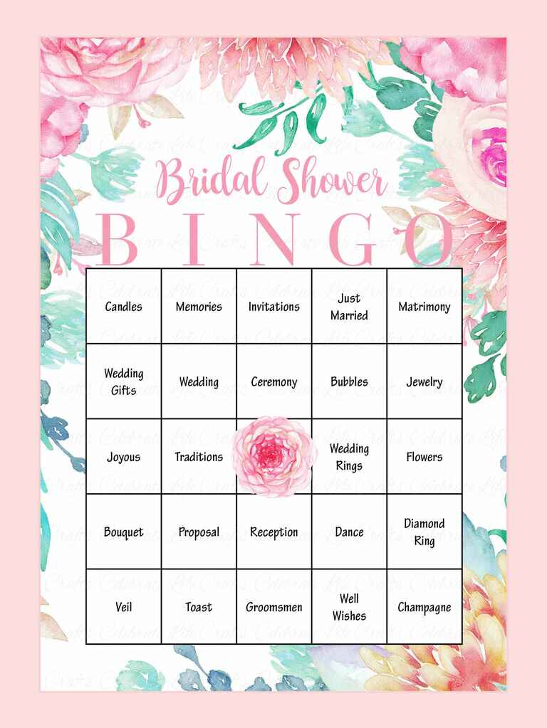 Crafty image pertaining to bridal shower bingo printable