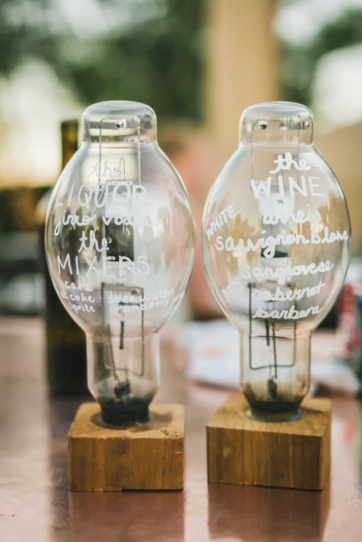 Glass Lightbulb Calligraphy