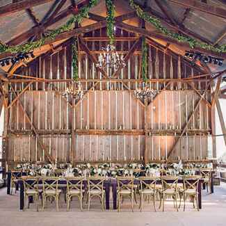 Luxe, rustic reception venue