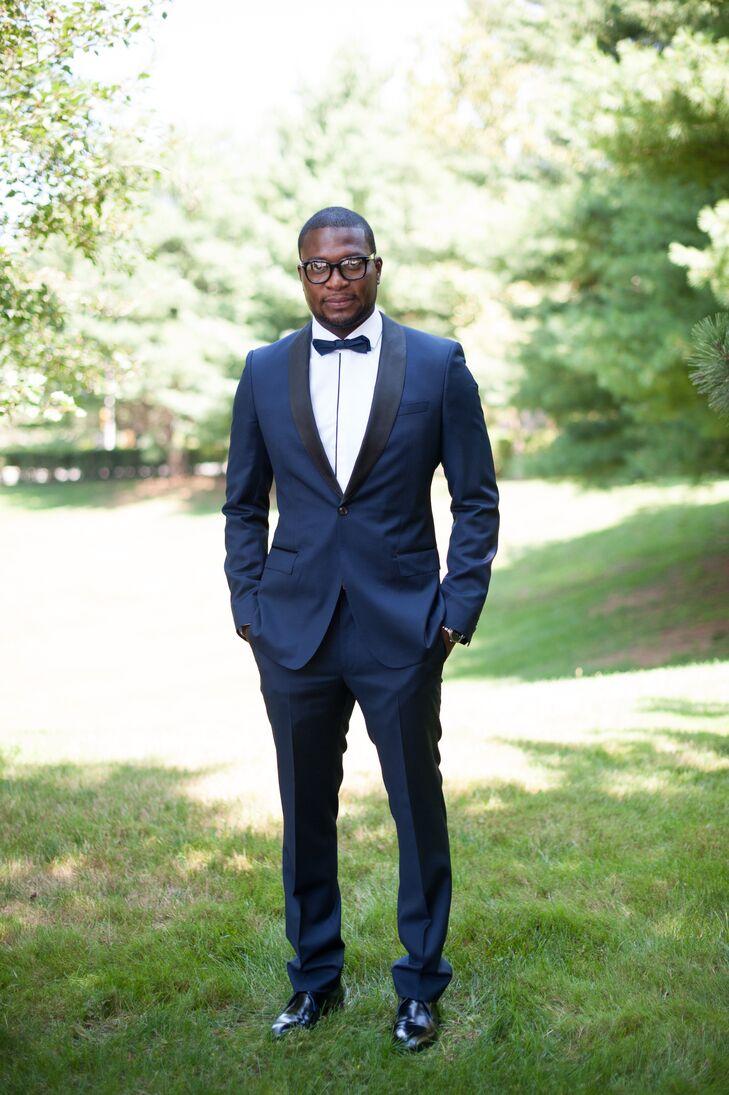 navy blue hugo boss tuxedo