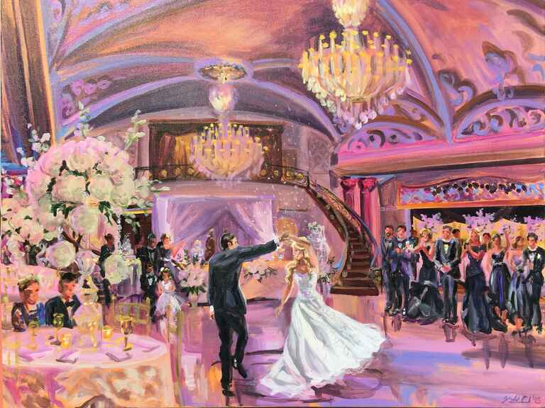 Live Painting Is The New Wedding Reception Trend You Re