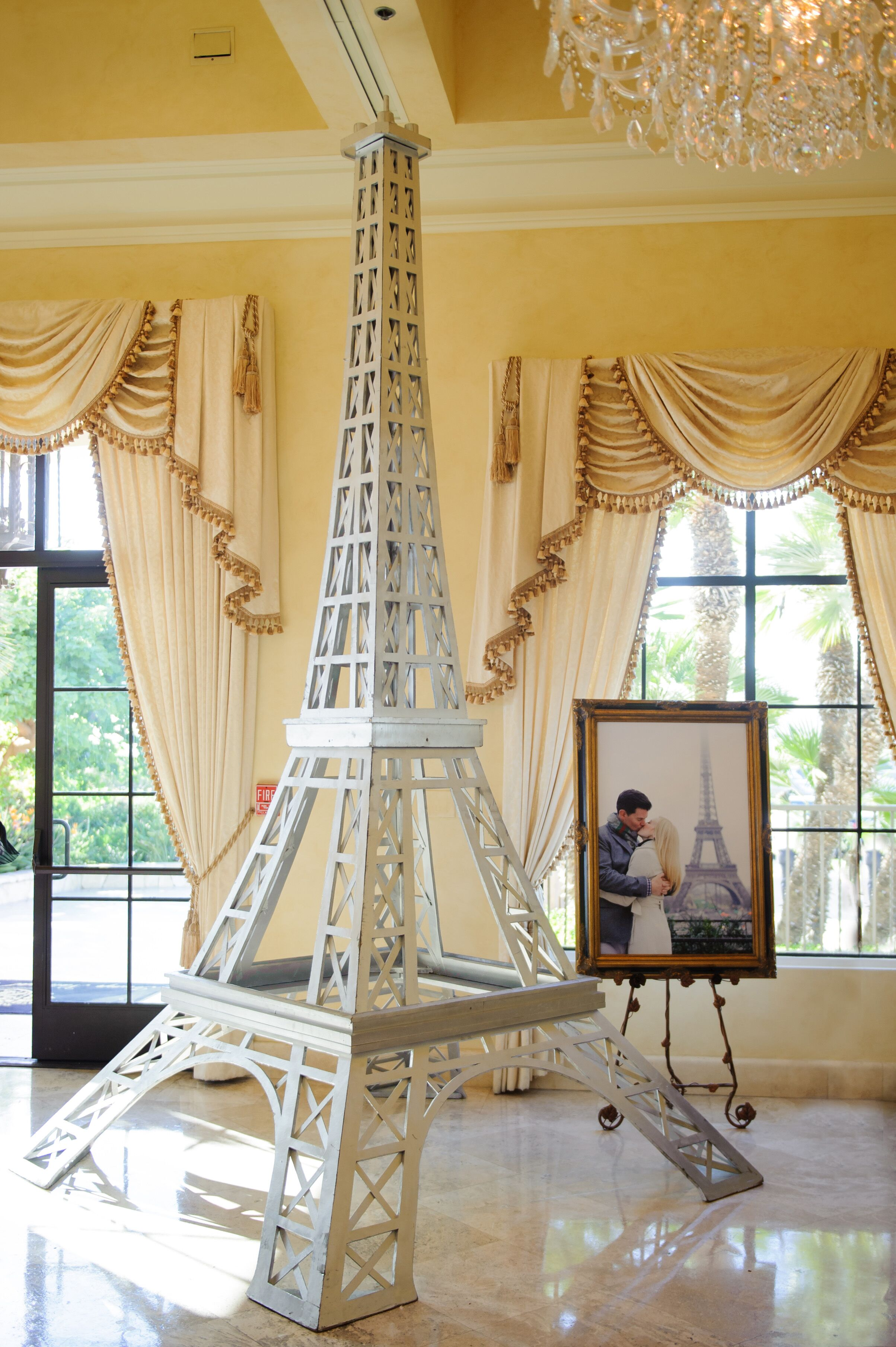 White Eiffel Tower Photo Prop