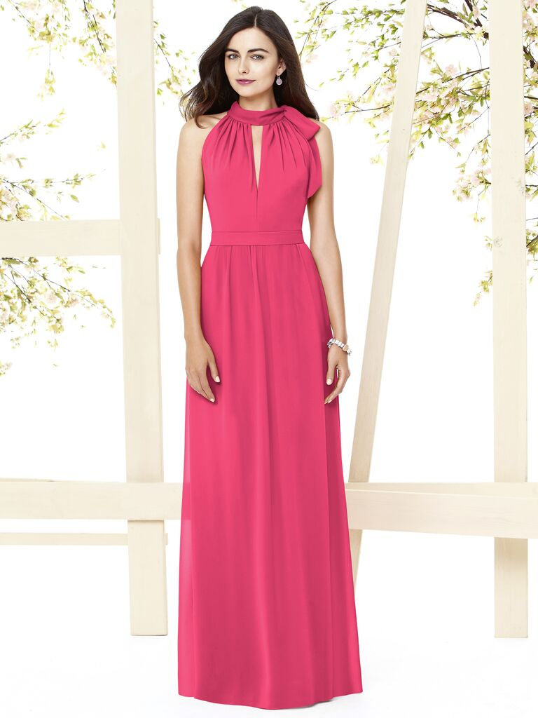 Dessy is offering an exclusive coupon code for knotties halter neckline bridesmaid dress ombrellifo Gallery