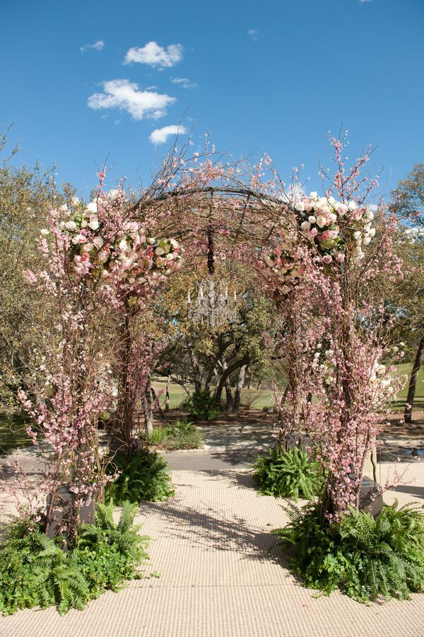Floral and Branch Wedding Arch