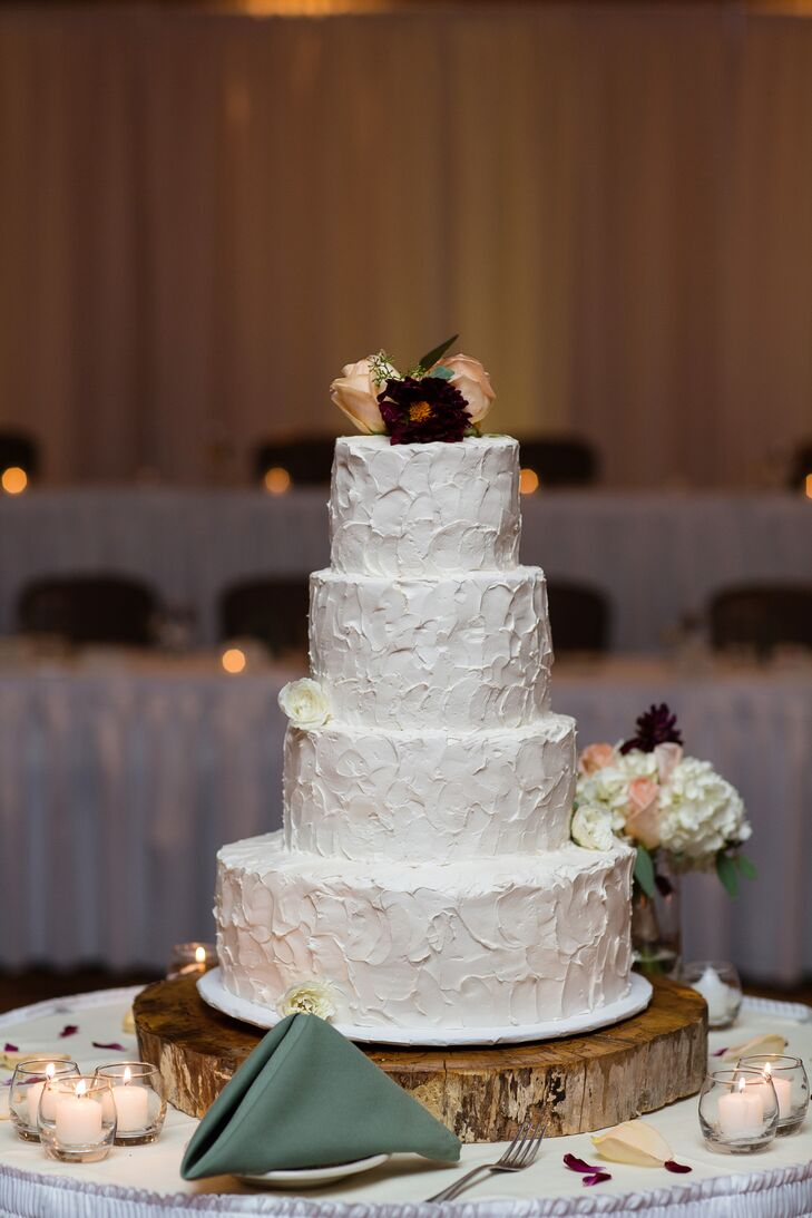four tier wedding cake with flowers four tier white wedding cake 14436