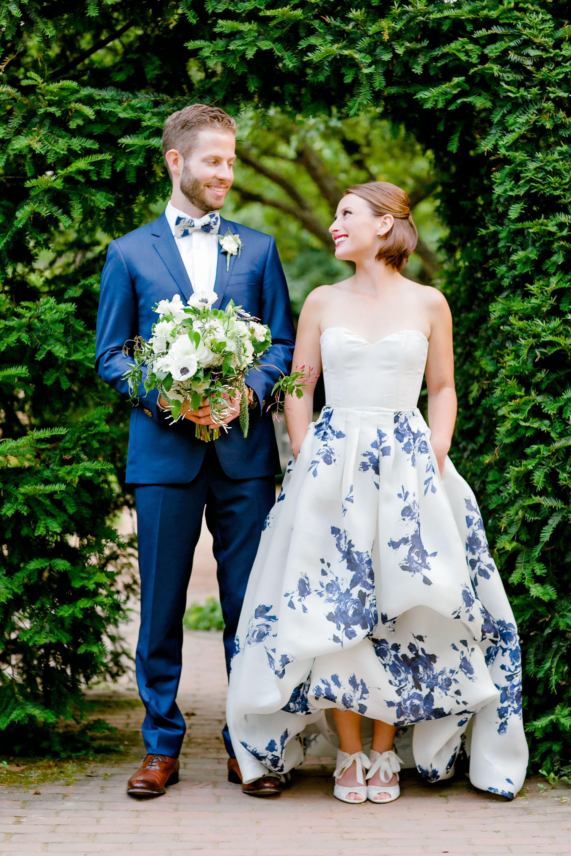 Garden-Inspired Wedding Attire