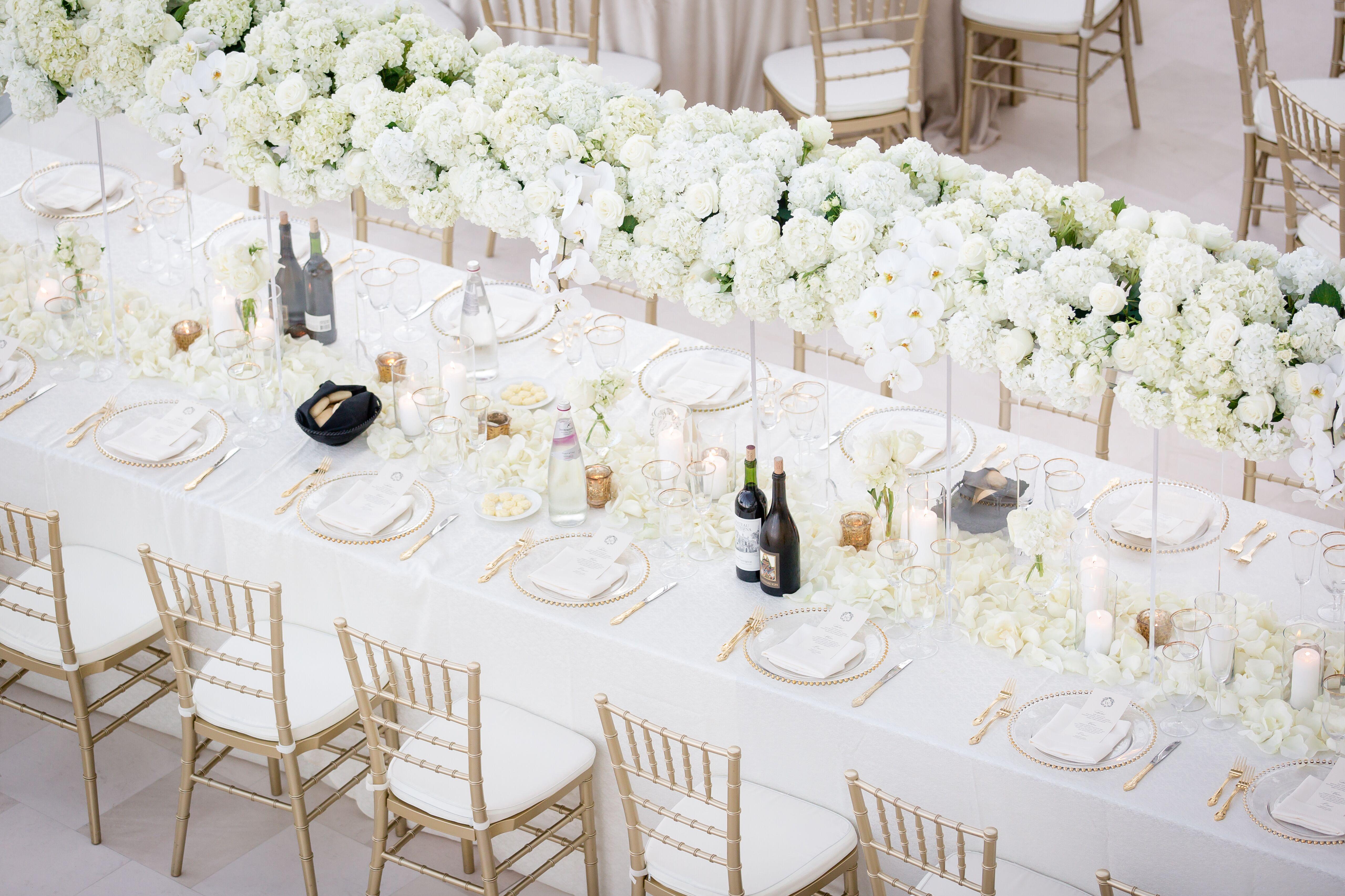 All-White Wedding Reception