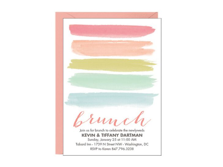 Paper Source Colorful Post Wedding Brunch Invitation