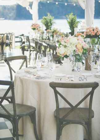 Neutral Reception Table | The Shultzes | The Knot Blog