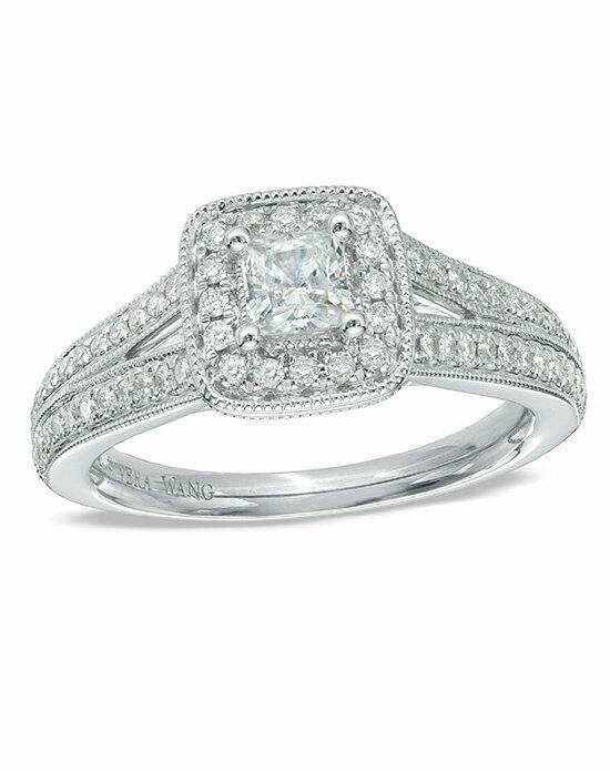Vera Wang LOVE at Zales Vera Wang LOVE Collection 3/4 CT. T.W. Princess-Cut Diamond Vintage-Style Engagement Ring in 14K White Gold  19881713 Engagement Ring photo