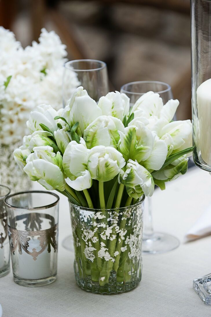 Small parrot tulip centerpieces