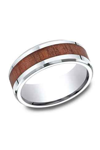 benchmark rings cobalt and wood wedding band - Unique Wedding Ring