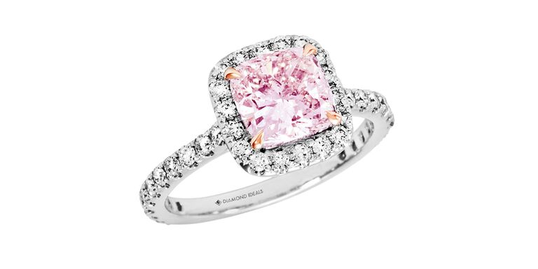 pink diamond wedding ring colorful engagement rings you ll 6576