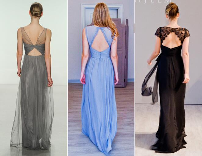 Back cutout bridesmaid dresses