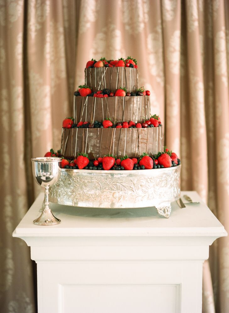 Chocolate Groom S Cake With Fresh Berries