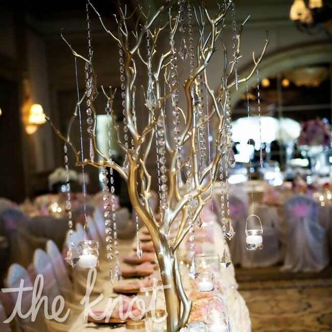 Gold And Crystal Centerpiece
