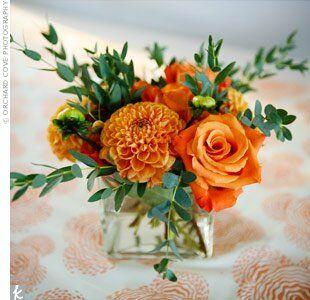 Orange Centerpieces