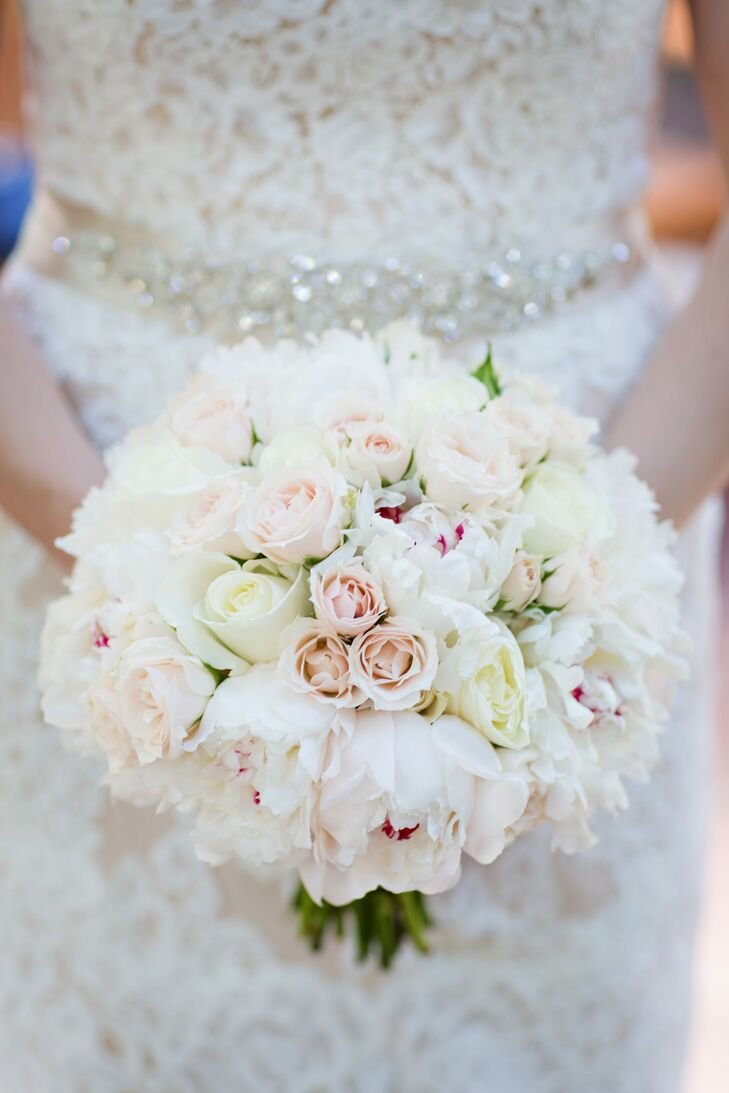 Classic Rose and Peony Bridal Bouquet