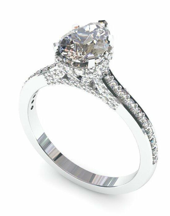Enchanted Diamonds Pear Pave with Side Halo CH3-PT-P Engagement Ring photo