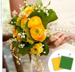 Dark green and yellow bouquet