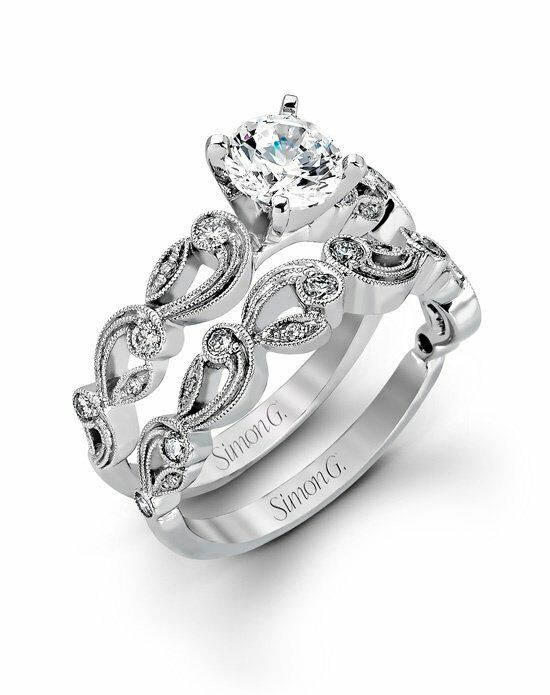 Simon G. Jewelry TR473 Engagement Ring photo