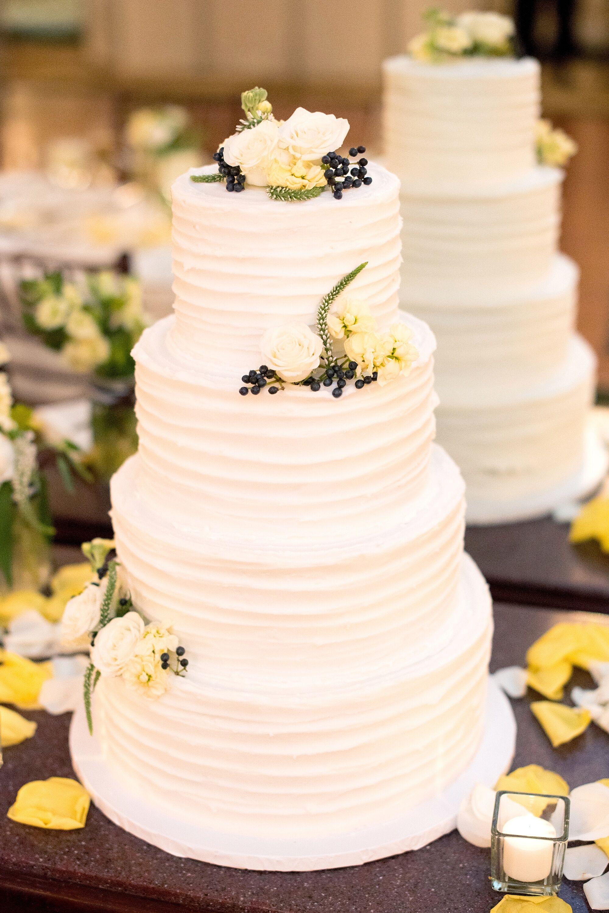 Four Tier White Buttercream Wedding Cake