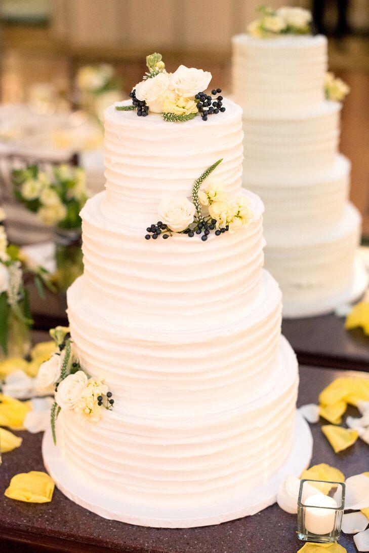 Four-Tier White Buttercream Wedding Cake