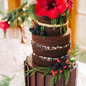 Winter Wedding Cakes - Fudge Wedding Cake