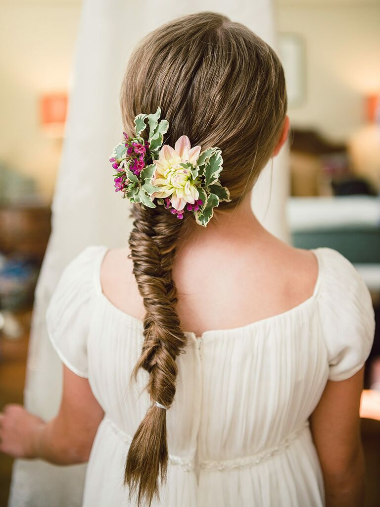 14 adorable flower girl hairstyles fishtail braids easy braid hairstyles for flower girls pmusecretfo Choice Image