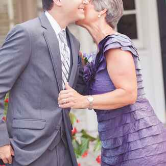 mother-in-law and son/Emily Moseley Photography/The Knot Blog
