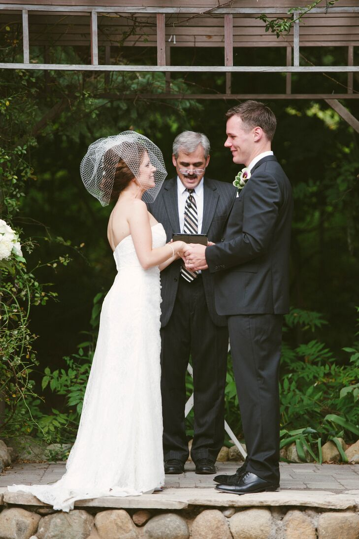 The outdoor ceremony took place at MillCreek Barns, making for a laid-back and beautiful day.