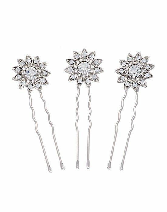 Thomas Laine Lurana Floral Hair Pins - Set of 3 Wedding Pins, Combs + Clips photo