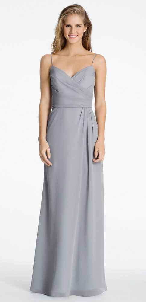 grey bridesmaid dress by Hayley Paige
