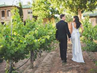 New Mexico vineyard wedding photography