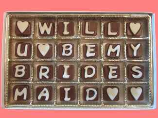 Bridesmaid chocolate-gram