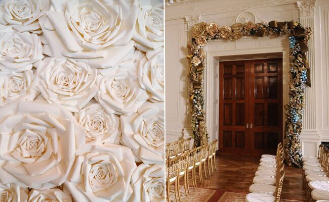 Paper Wedding Flowers Transform Into White House Holiday Decor