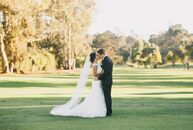 An elegant style with hints of glam decorated the space at Santa Maria Country Club in Santa Maria, California, for the classic nuptials between Nadia
