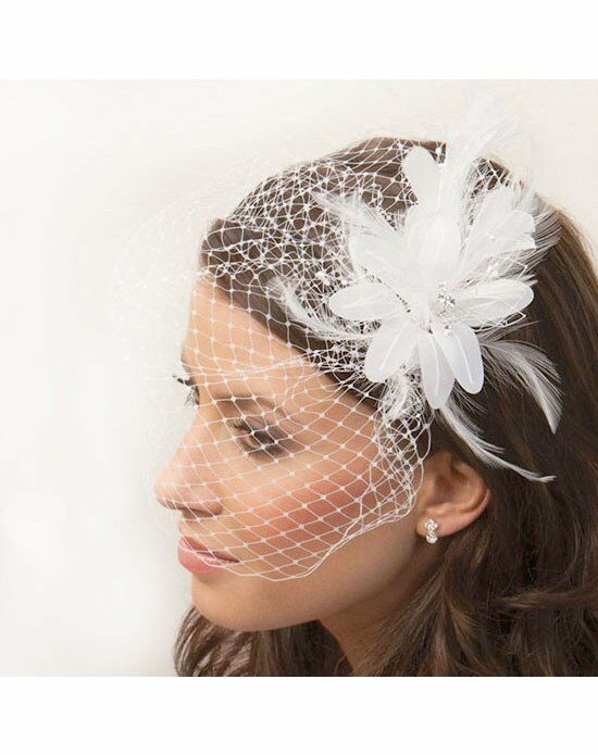 USABride Jackie Cage Veil and Flower Fascinator VB-491 Wedding Accessory photo
